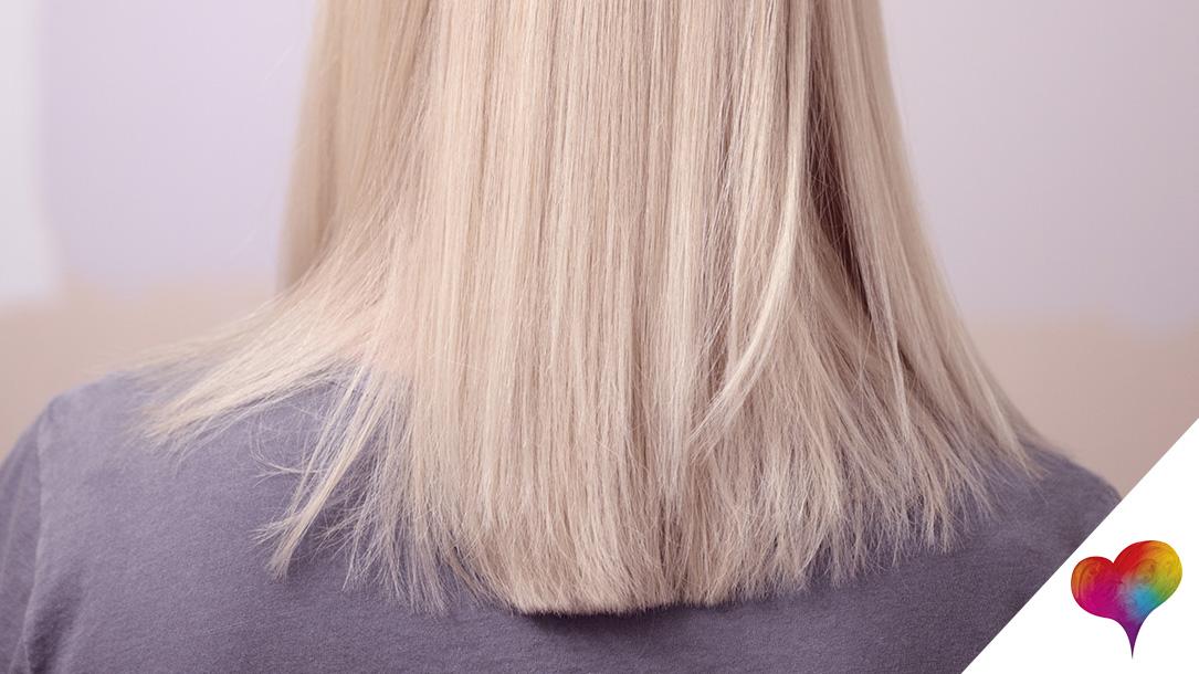 Glatte stufenschnitt haare lange Glatte haare
